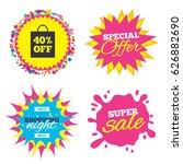 sale splash banner  special... | Shutterstock .eps vector #626882690