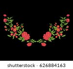 embroidery for the collar line. ... | Shutterstock .eps vector #626884163