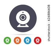 webcam sign icon. web video... | Shutterstock .eps vector #626886608