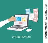 online payment concept. payment ... | Shutterstock .eps vector #626887310