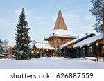 santa claus office in santa... | Shutterstock . vector #626887559