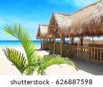 beach on a tropical island | Shutterstock . vector #626887598