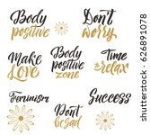 conceptual handwritten set of... | Shutterstock .eps vector #626891078