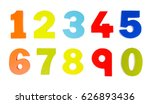 Colorful Wooden Toy Numbers On...
