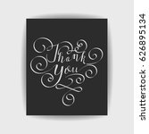 thank you wedding words with... | Shutterstock .eps vector #626895134