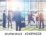 people in an open space office...   Shutterstock . vector #626896028