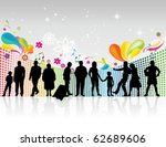 people silhouette | Shutterstock .eps vector #62689606