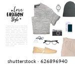 fashion blogger concept.... | Shutterstock . vector #626896940