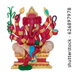 Small photo of Hindu God Ganesha Lord of Success Lord of Success god of hindu