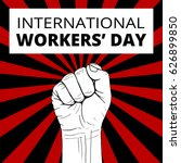 international workers day with... | Shutterstock .eps vector #626899850