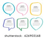 stickers of speech bubbles... | Shutterstock .eps vector #626903168
