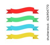 vector set of colorful ribbons | Shutterstock .eps vector #626904770