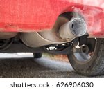 old diesel car exhaust detail ... | Shutterstock . vector #626906030