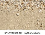 Wet Yellow Sand With Colorful...