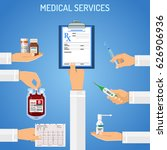 medical services concept with... | Shutterstock .eps vector #626906936