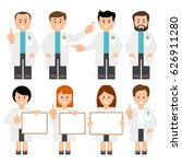 doctors  scientists. vector... | Shutterstock .eps vector #626911280