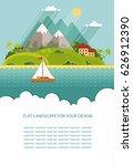 blank for text. summertime... | Shutterstock .eps vector #626912390