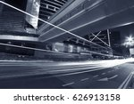 night traffic in hong kong | Shutterstock . vector #626913158
