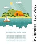 blank for text. summer morning...   Shutterstock .eps vector #626914016