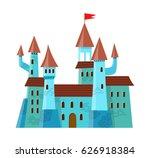 fairy medieval castle in... | Shutterstock .eps vector #626918384