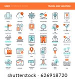 vector set of travel and... | Shutterstock .eps vector #626918720