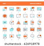 vector set of message bubbles... | Shutterstock .eps vector #626918978