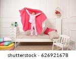 beautiful baby girl sleeping in ... | Shutterstock . vector #626921678