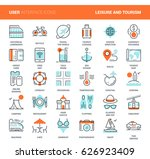 vector set of leisure and... | Shutterstock .eps vector #626923409