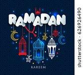 ramadan kareem greting... | Shutterstock .eps vector #626926490