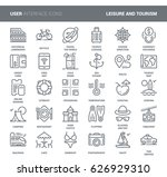 vector set of leisure and... | Shutterstock .eps vector #626929310
