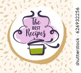 hand drawn logo for delicious... | Shutterstock .eps vector #626932256