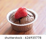 homemade chocolate cupcake with ... | Shutterstock . vector #626935778