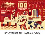 set of revolution infographics  ... | Shutterstock .eps vector #626937209