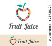 fruit juice logo | Shutterstock .eps vector #626938124