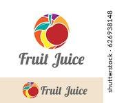 fruit juice logo | Shutterstock .eps vector #626938148