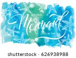 the real mermaid live in the... | Shutterstock .eps vector #626938988