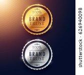 brand trust label design in...   Shutterstock .eps vector #626940098