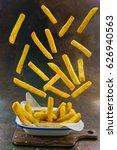 homemade crispy potato fries... | Shutterstock . vector #626940563
