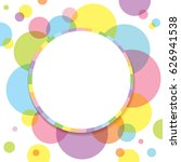vector of colorful circle...   Shutterstock .eps vector #626941538