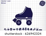 vector illustration of roller...   Shutterstock .eps vector #626942324
