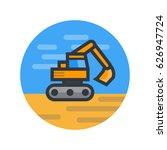 excavator  vector illustration... | Shutterstock .eps vector #626947724
