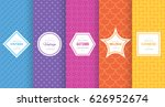 Stock vector cute bright seamless pattern background vector illustration bright design abstract geometric 626952674