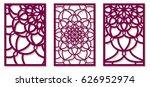 set of vector laser cut panels. ...   Shutterstock .eps vector #626952974