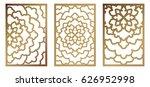set of vector laser cut panel....   Shutterstock .eps vector #626952998