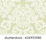 seamless green lace background... | Shutterstock .eps vector #626953580