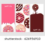 a set of three posters  ... | Shutterstock .eps vector #626956910