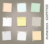 vector set of realistic paper... | Shutterstock .eps vector #626957420