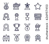 prize icons set. set of 16...   Shutterstock .eps vector #626957453