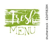 fresh menu green label  vector... | Shutterstock .eps vector #626958284