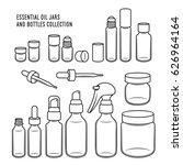 essential oil jars and bottles... | Shutterstock .eps vector #626964164